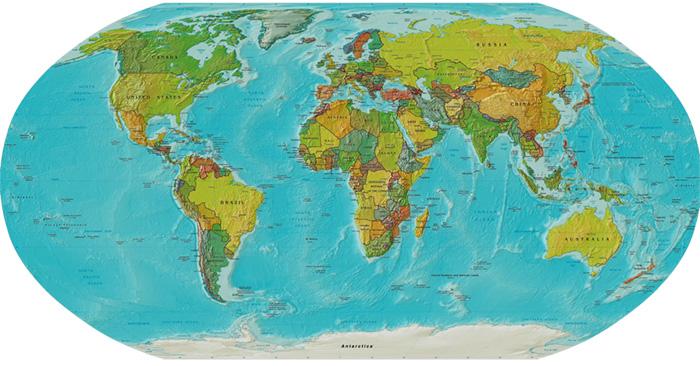 Blickwinkel weltbilder geh ren auf den kopf gestellt for Weltkarte mit fotos