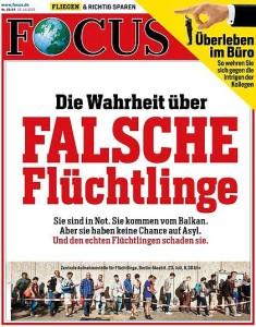 """Focus-Cover 31/15 """"DIe Wahrheit über FALSCHE Flüchtinge"""""""