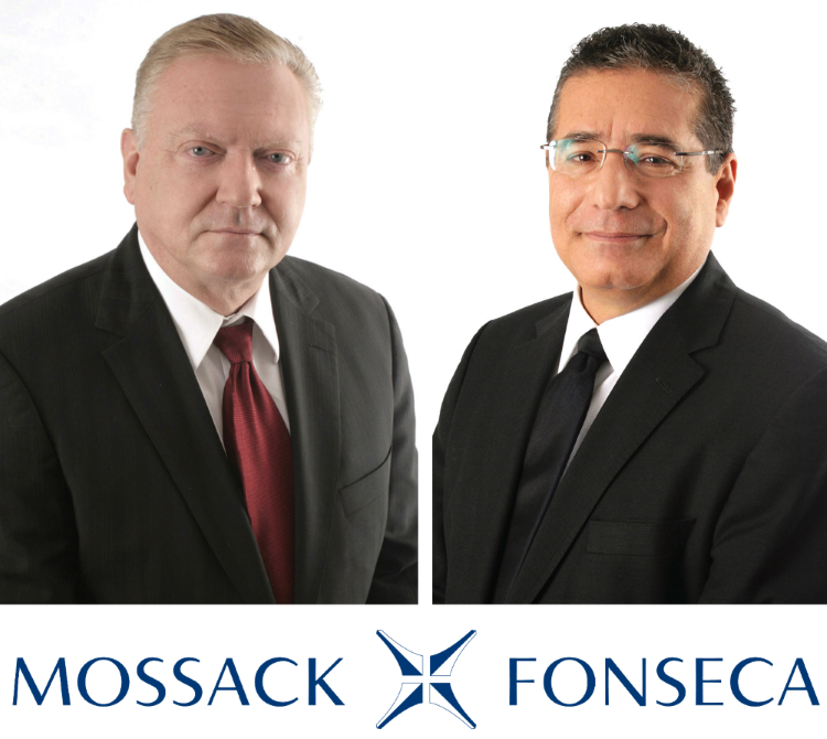 Jürgen Mossack und Ramón Fonseca sind die Chefs der Firma, aus der die Panama Papers geleakt wurden. By Jandrade97 licensed under CC BY-SA 4.0, logo all rights reserved.