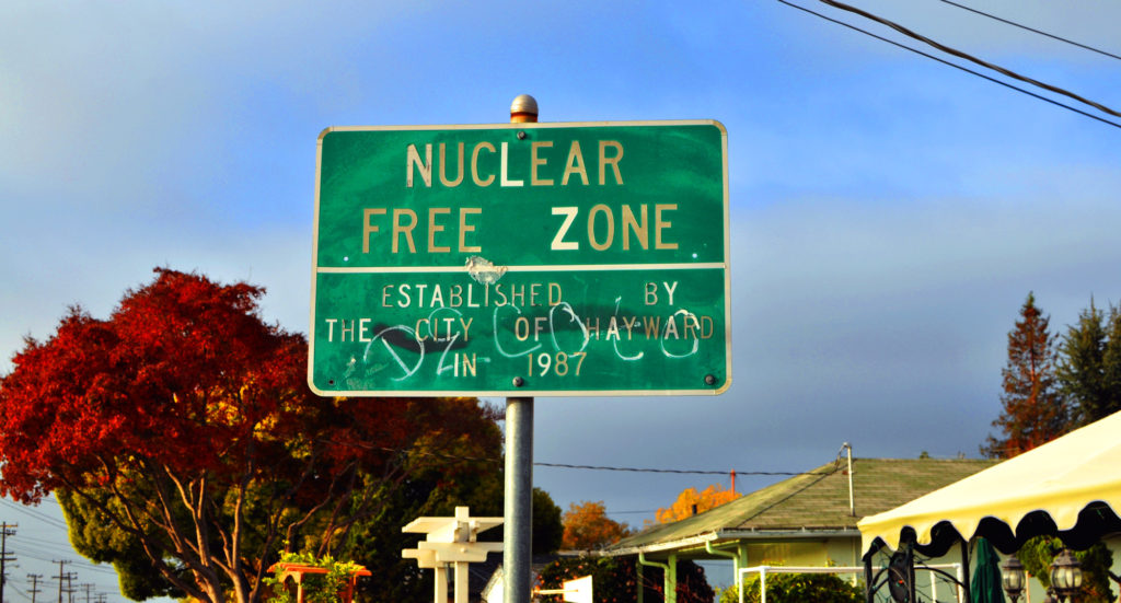 Nuclear Free Zone, by Jasleen Kaur, flickr, licensed under CC BY-SA 2.0 (edited).