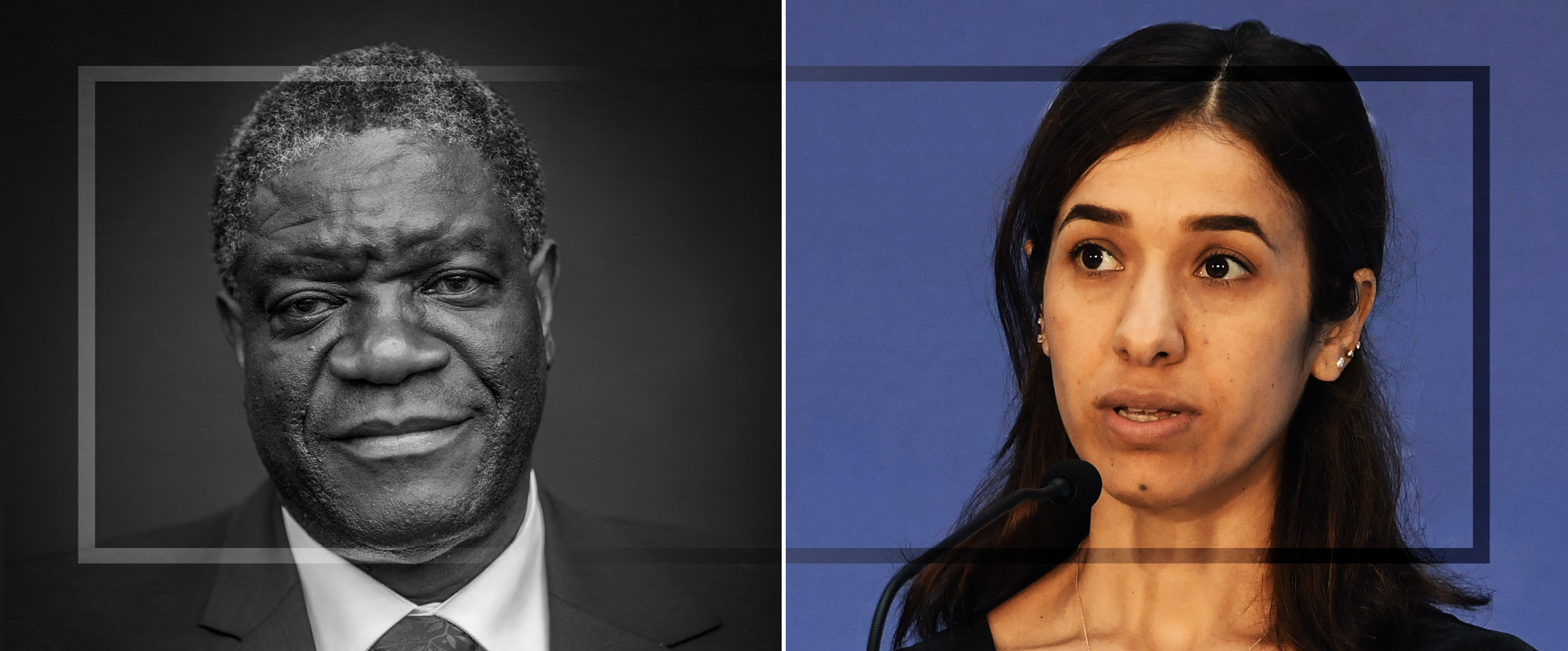 Friedensnobelpreis geht an Nadia Murad und Denis Mukwege für ihren Kampf zur Beendigung sexueller Gewalt im Krieg <br>  <span id='sec-title'>Schutz der Rechte von Frauen und Mädchen im Krieg</span>