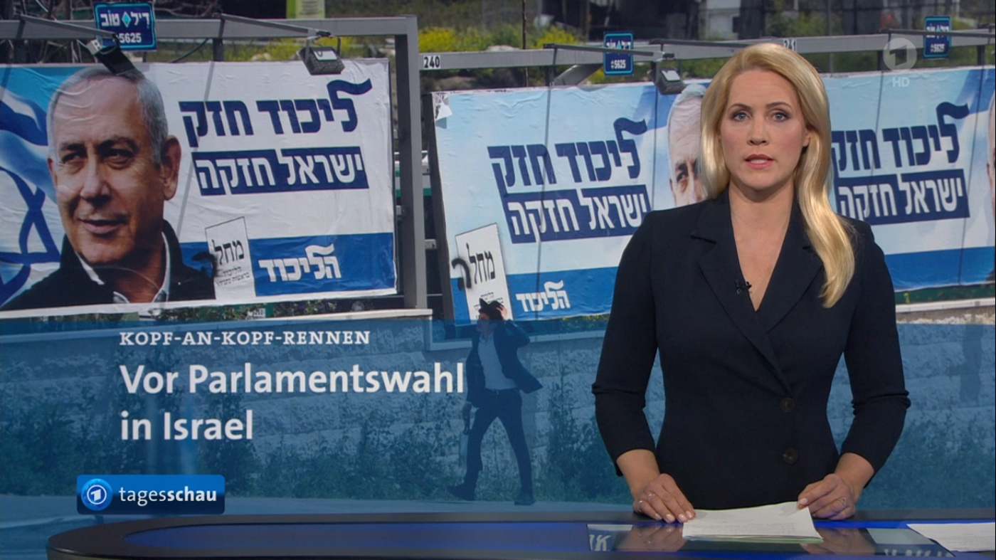 """Programmbeschwerde Tagesschau: Rechtsradikale Likud-Partei ist """"konservativ""""? <br>  <span id='sec-title'>Schwerwiegende Täuschung vor Knesset-Wahlen</span>"""